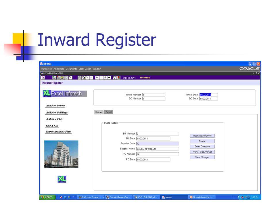 Inward Register