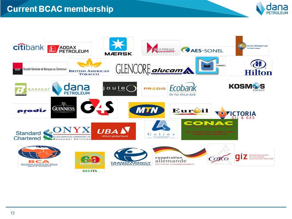 Current BCAC membership 13