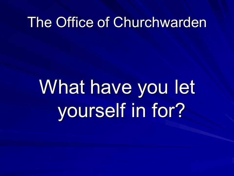 Your work as a Churchwarden