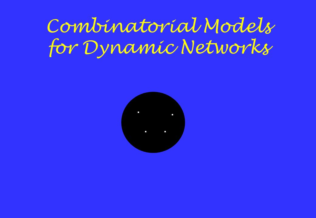 Combinatorial Models for Dynamic Networks....