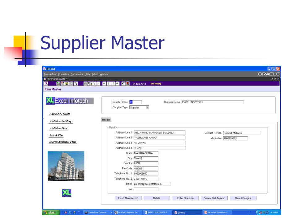 Supplier Master