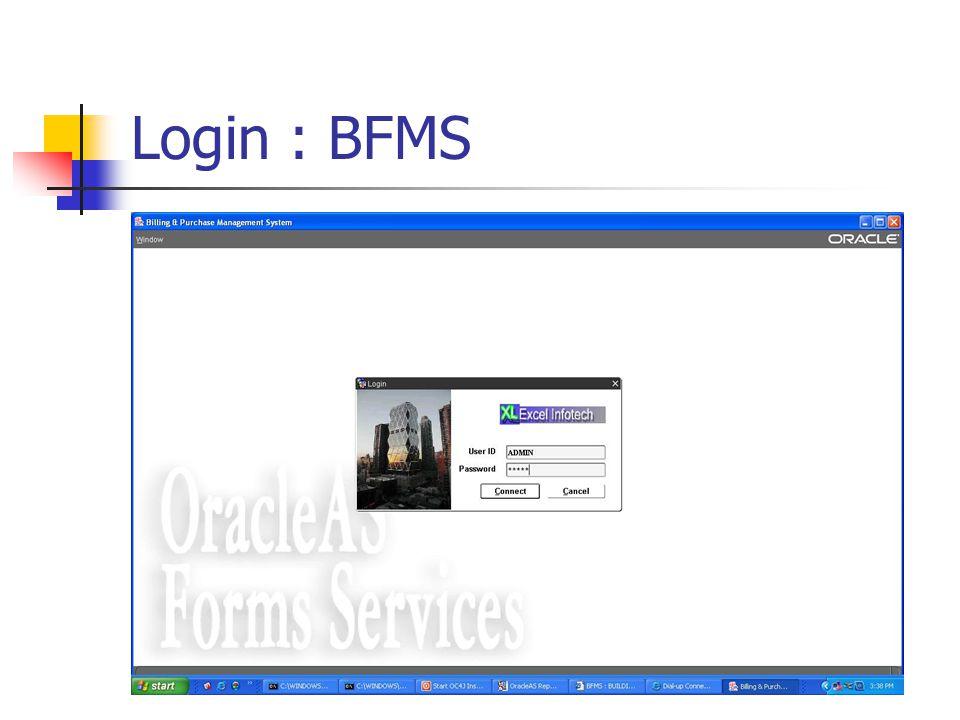 Login : BFMS