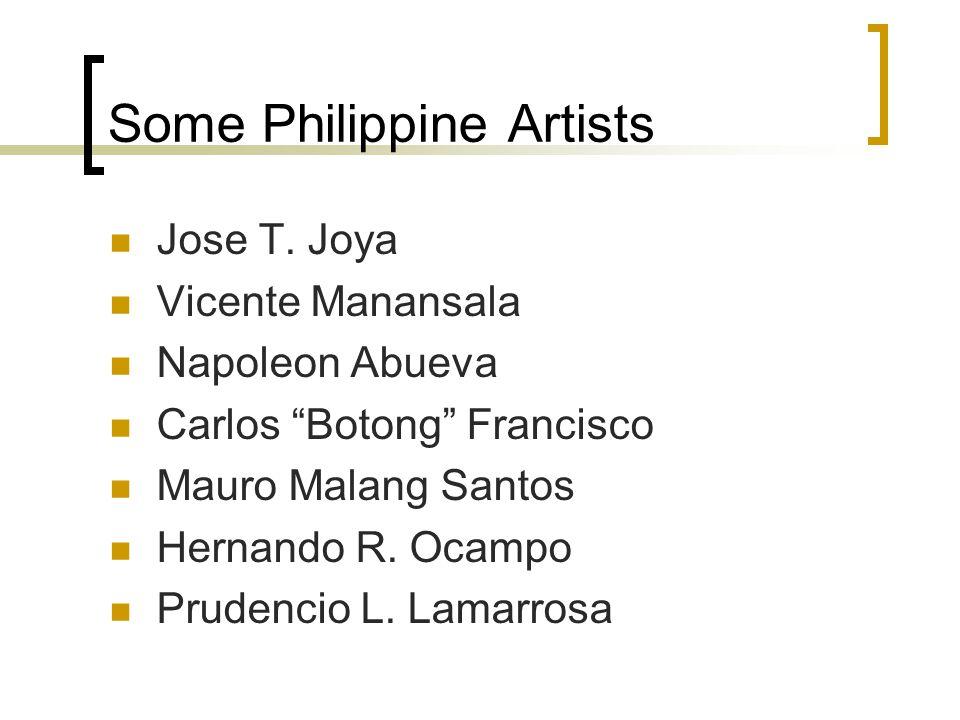 Some Philippine Artists Jose T.