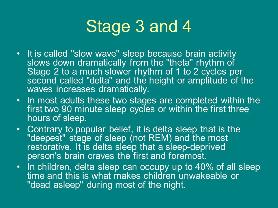 Stage 3 and 4 It is called