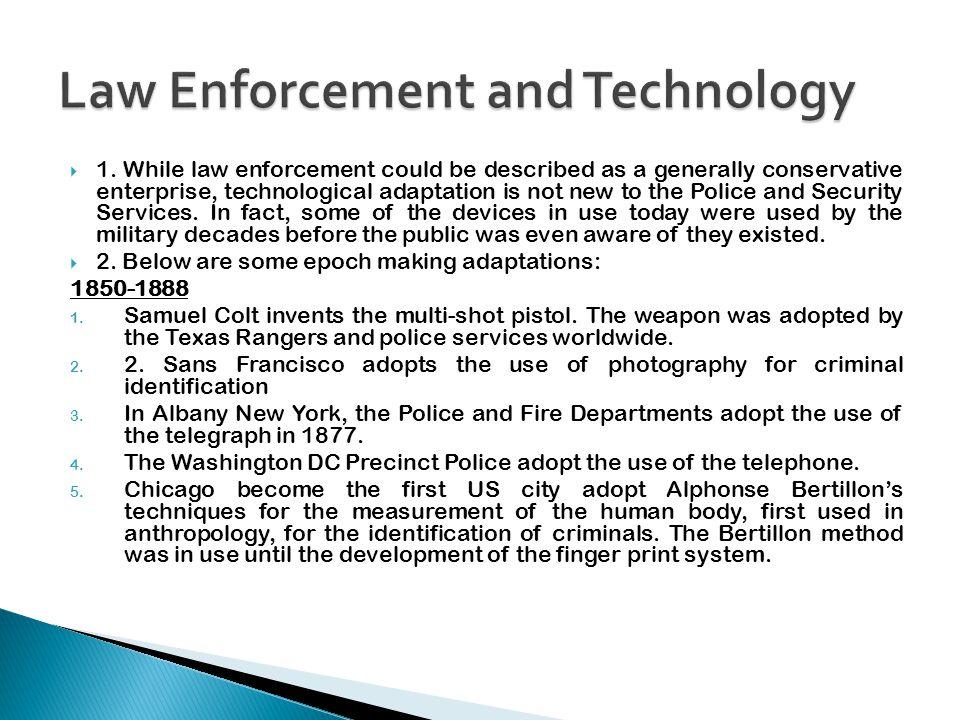1901-1932 1.Scotland Yard adopts fingerprint classification devised by Sir Richard Henry.