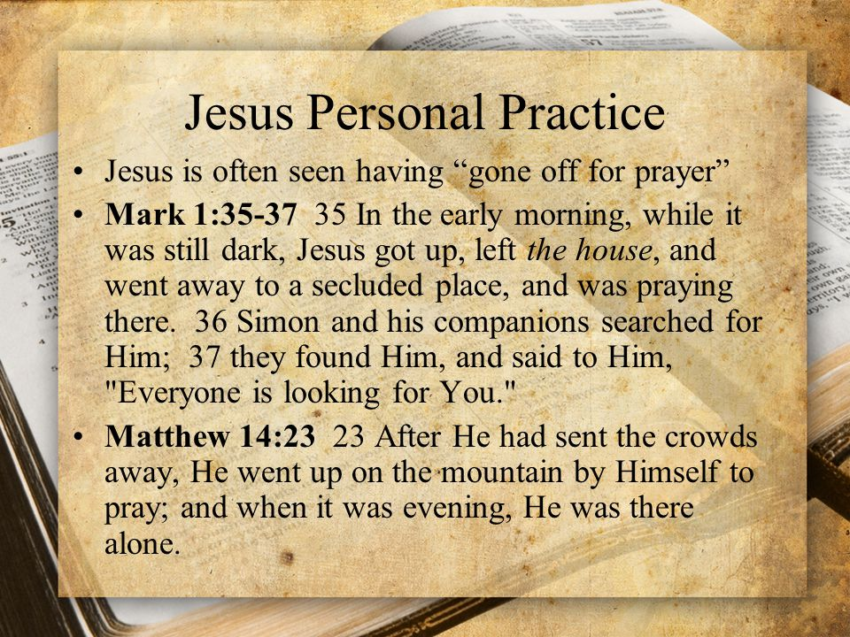 Lessons from Jesus' Personal Prayer 1.