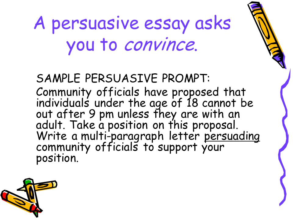 I have to write an essay but i cant think of an example for the prompt?