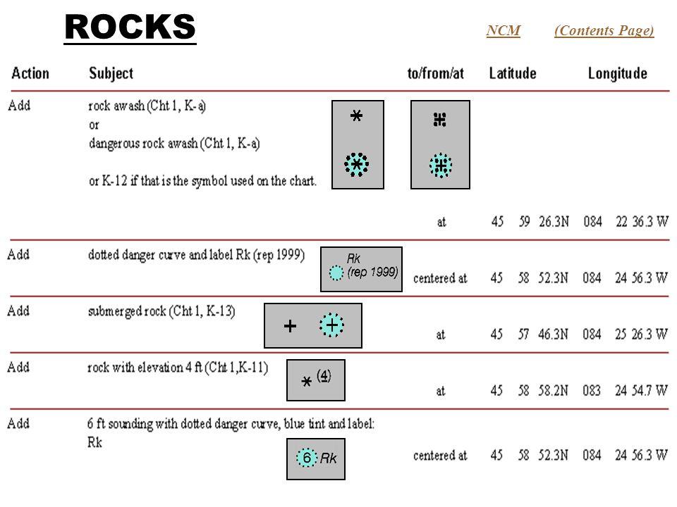 ROCKS (Contents Page)NCM