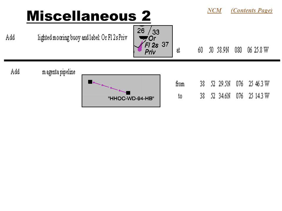 Miscellaneous 2 NCM(Contents Page)