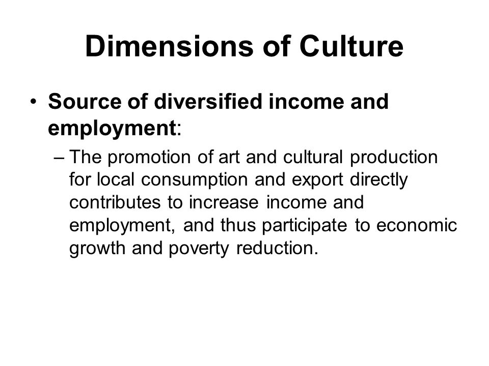 Dimensions of Culture (2) Mean to Enhance Decentralized Service Delivery.