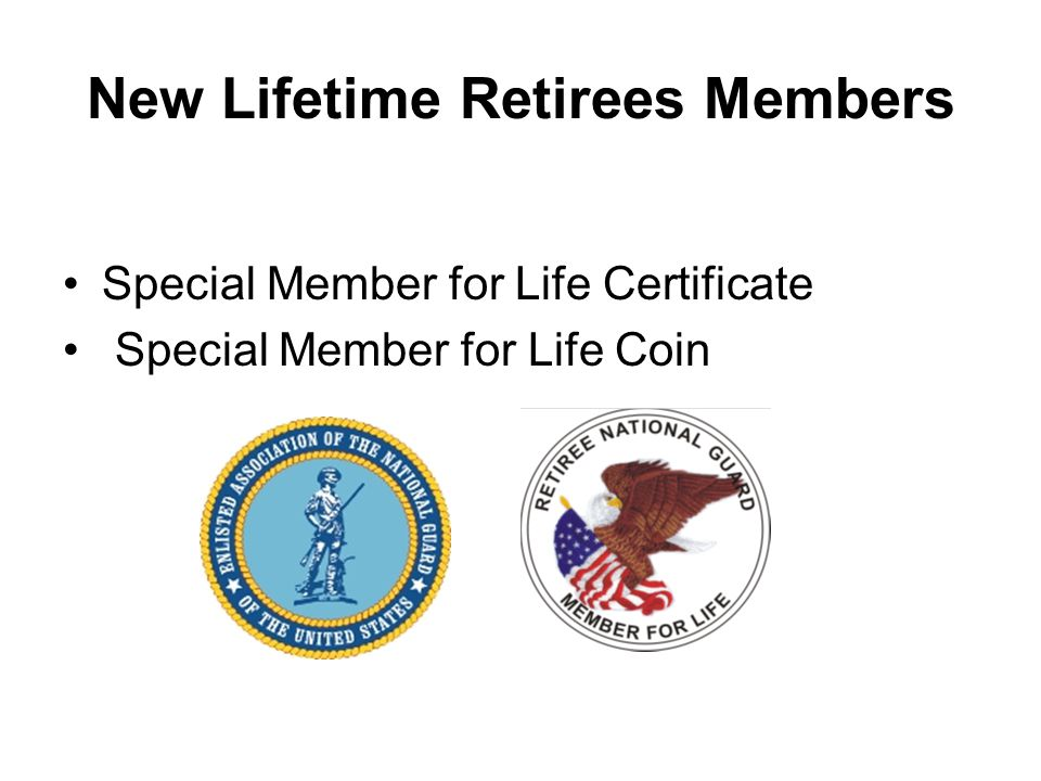New Lifetime Retirees Members Special Member for Life Certificate Special Member for Life Coin