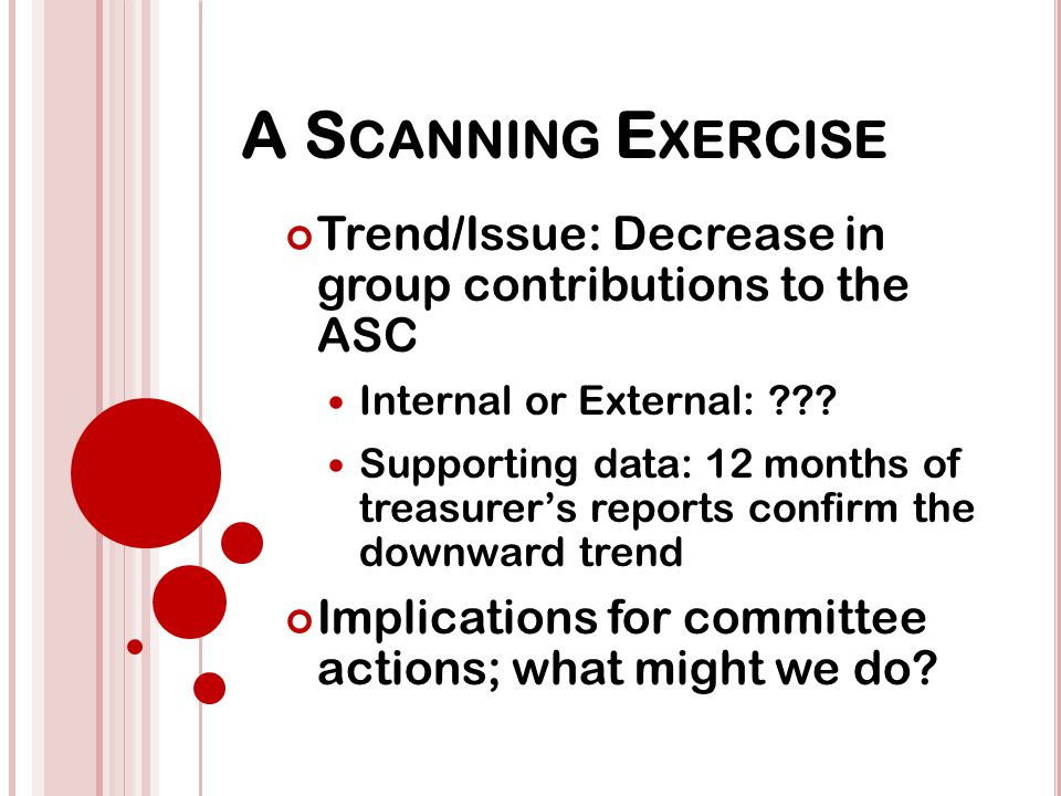 G ROUP E XERCISE 1.Lack of Trusted Servants 2. Smoking law changes 3.