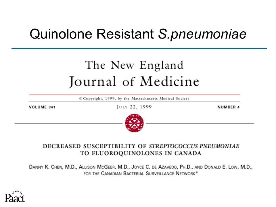 Quinolone Resistant S.pneumoniae