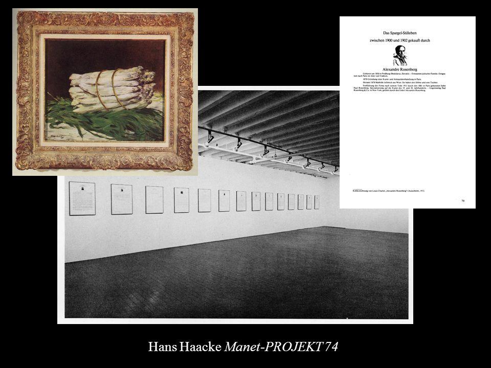 Hans Haacke Manet-PROJEKT 74