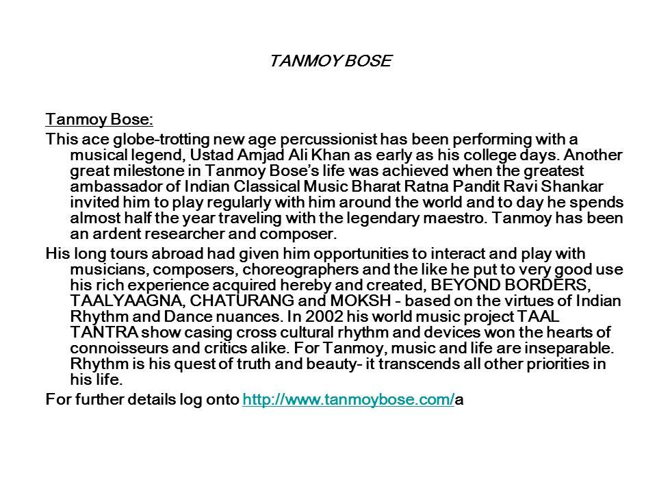 Tanmoy Bose & his Musicians