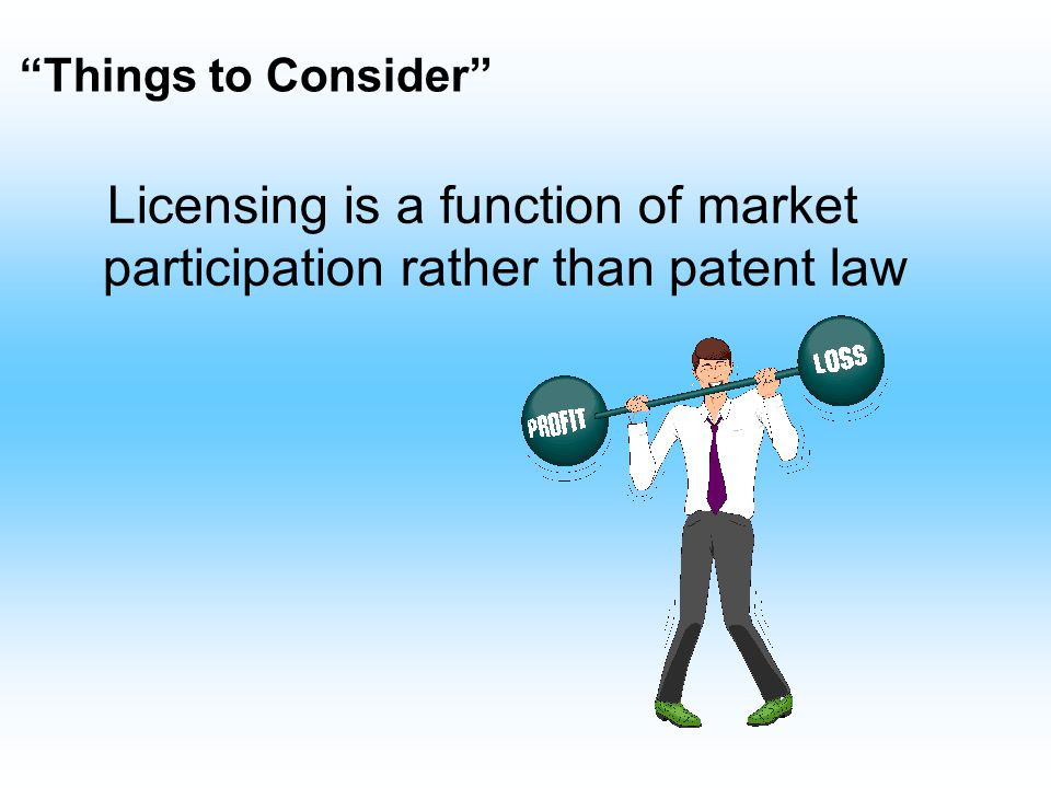 Intellectual Property Responsible for assessing patentability of the technology Conduct prior art review –novelty –obviousness Work with outside counsel on patent applications and infringement issues