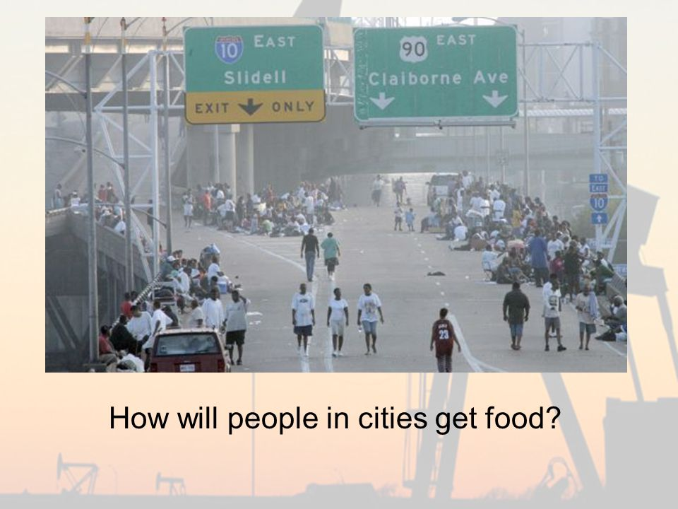 How will people in cities get food