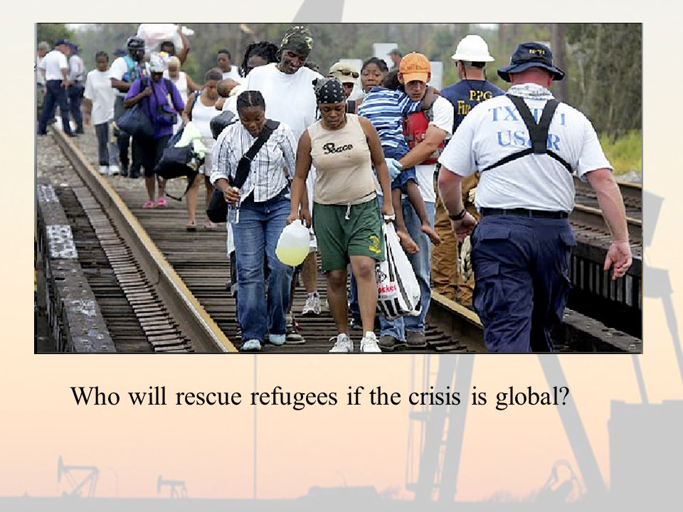 Who will rescue refugees if the crisis is global