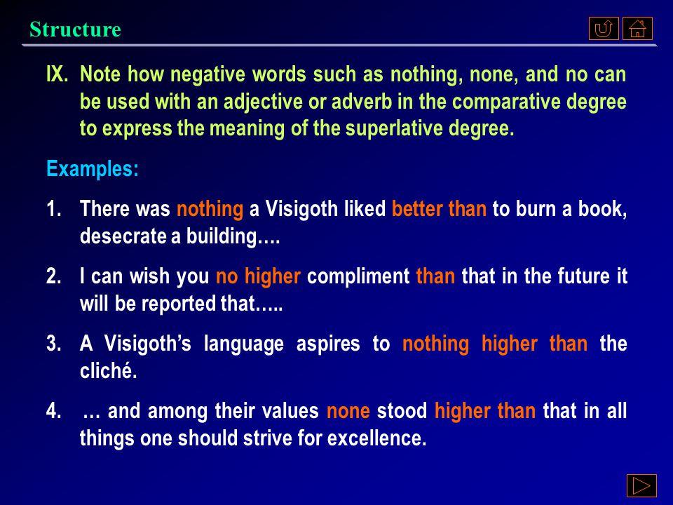 Structure Ex. VIII, p. 354 《读写教程 IV 》 : Ex. VIII, p. 354