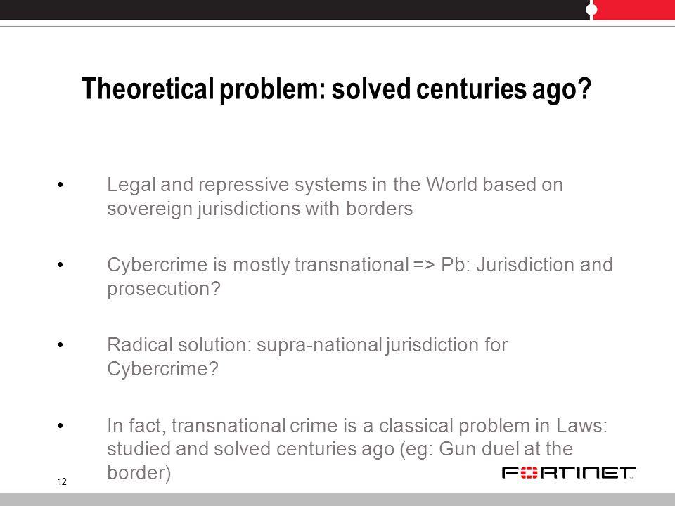 12 Theoretical problem: solved centuries ago.