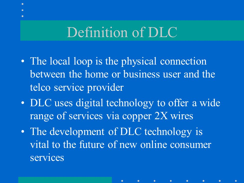 History of Subscriber Carriers Loop carrier development originally focused on providing higher quality over longer distances Was originally deployed in suburban and rural areas.