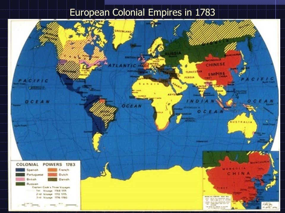 European Colonial Empires in 1783