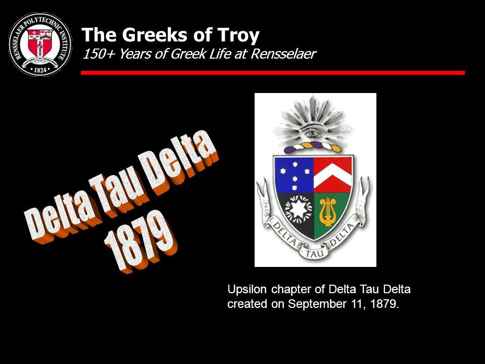 Upsilon chapter of Delta Tau Delta created on September 11, 1879.