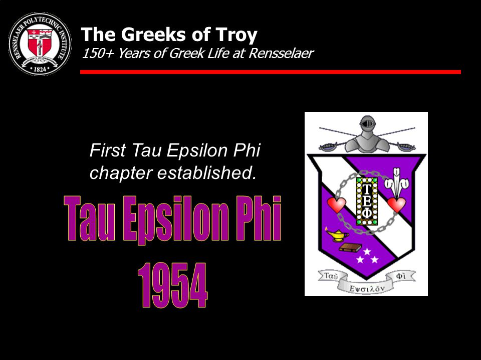 First Tau Epsilon Phi chapter established.