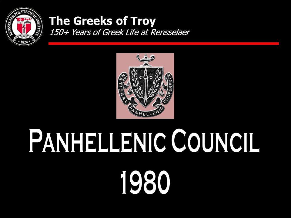 The Greeks of Troy 150+ Years of Greek Life at Rensselaer