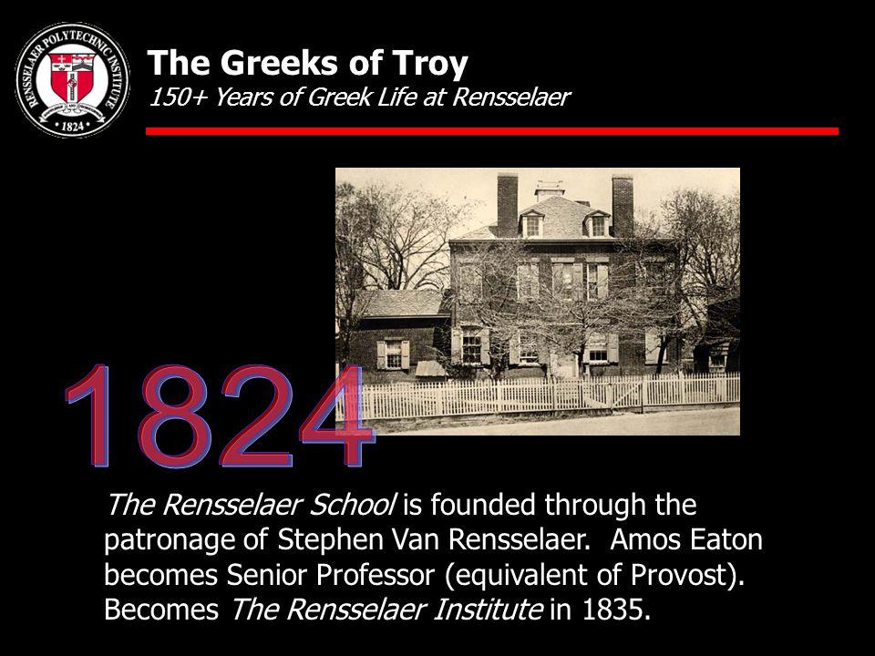 The Rensselaer School is founded through the patronage of Stephen Van Rensselaer.