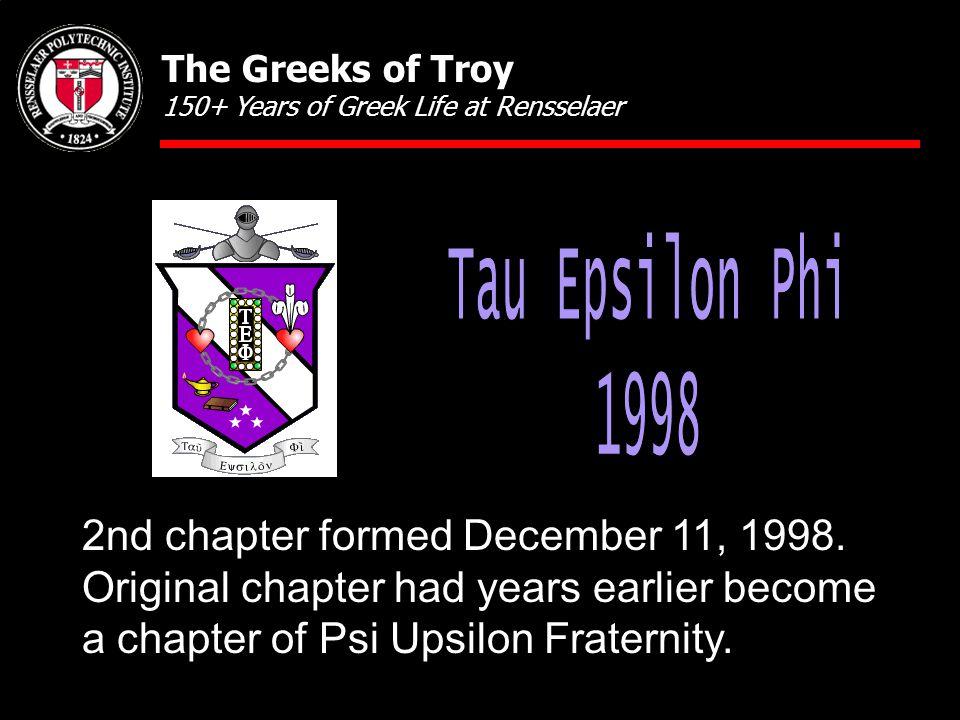 2nd chapter formed December 11, 1998.