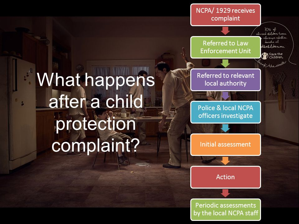 What happens after a child protection complaint.