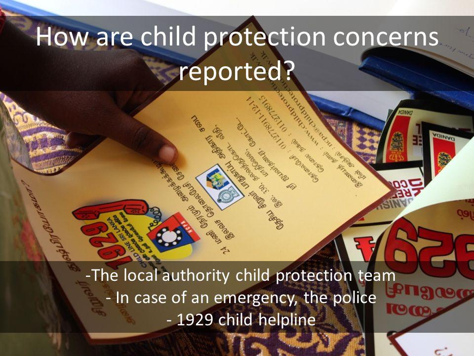 What happens after a child protection complaint.