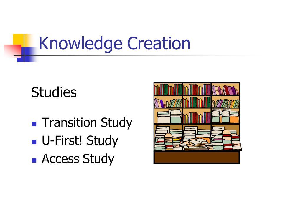 Knowledge Creation Studies Transition Study U-First! Study Access Study