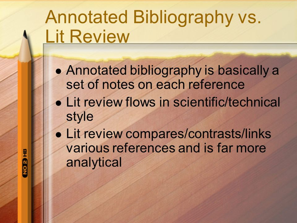 Annotated Bibliography vs.