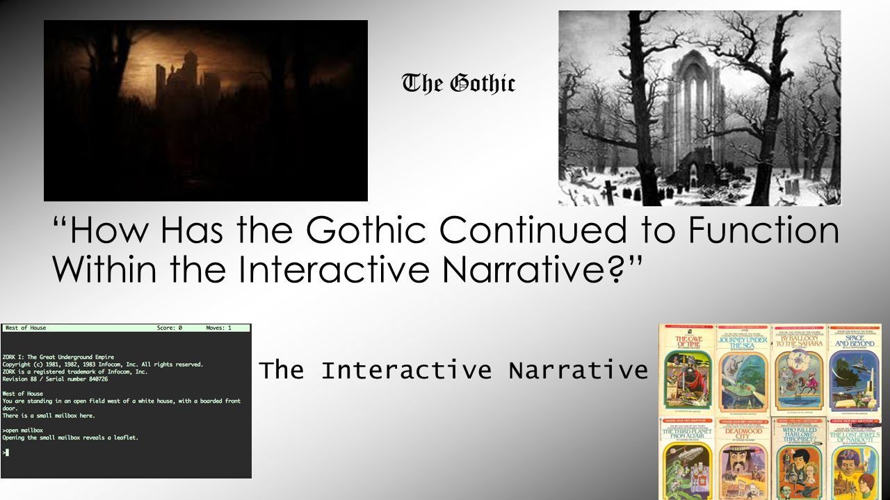 How Has the Gothic Continued to Function Within the Interactive Narrative The Gothic The Interactive Narrative