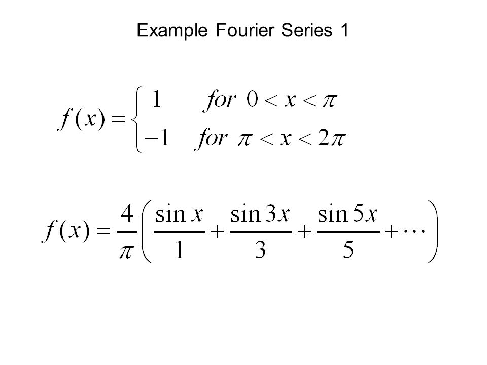Example Fourier Series 1