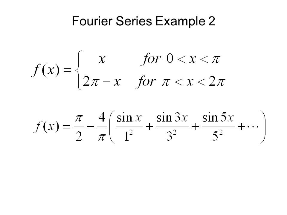 Fourier Series Example 2