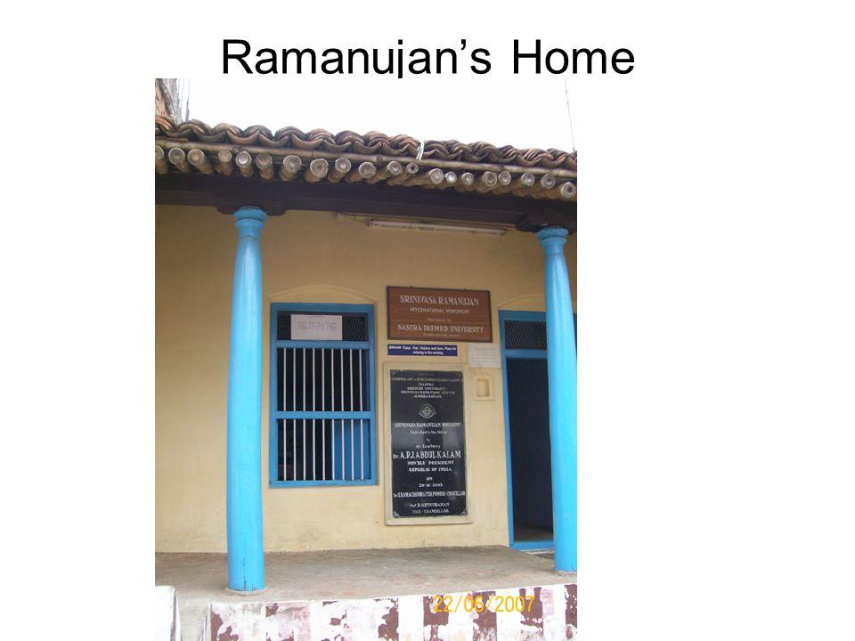 Ramanujan's Home