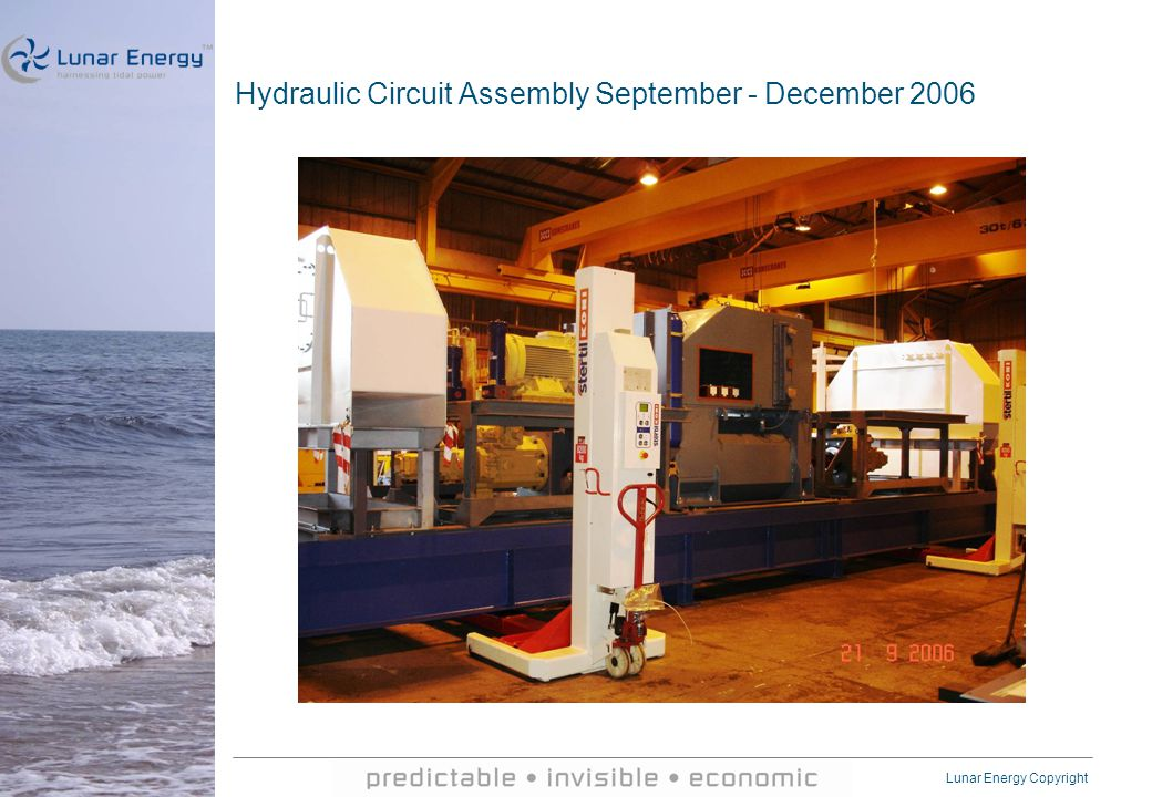 Lunar Energy Copyright Hydraulic Circuit Assembly September - December 2006