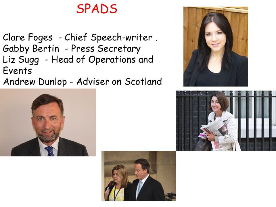 Clare Foges - Chief Speech-writer.