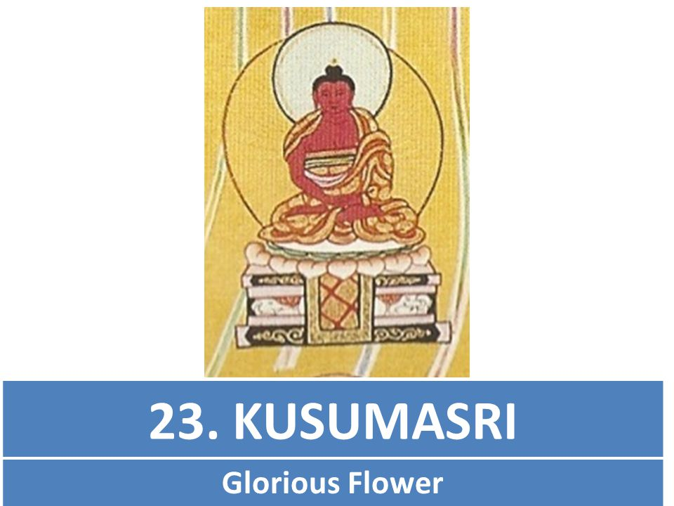 23. KUSUMASRI Glorious Flower