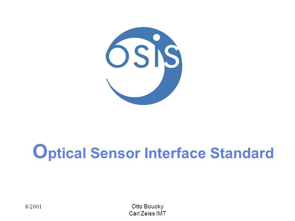 8/2001Otto Boucky Carl Zeiss IMT O ptical Sensor Interface Standard