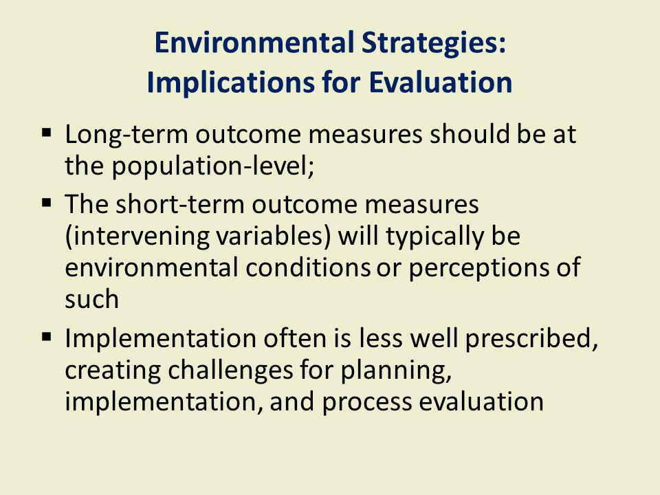 Evaluating Community-Based Prevention Strategies: For Who.