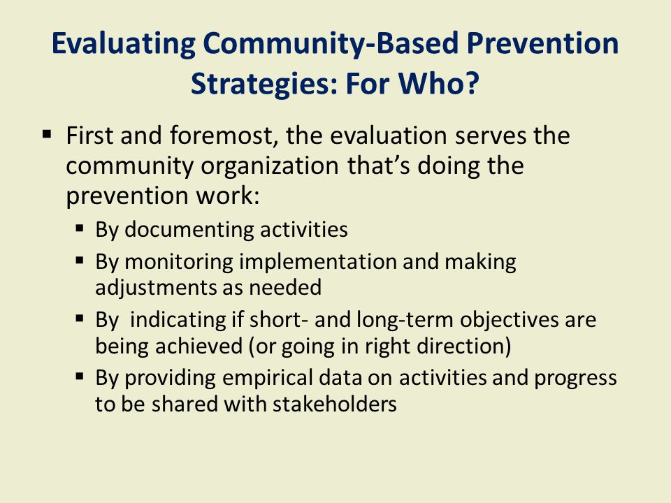 Steps for effective program monitoring contd.4.