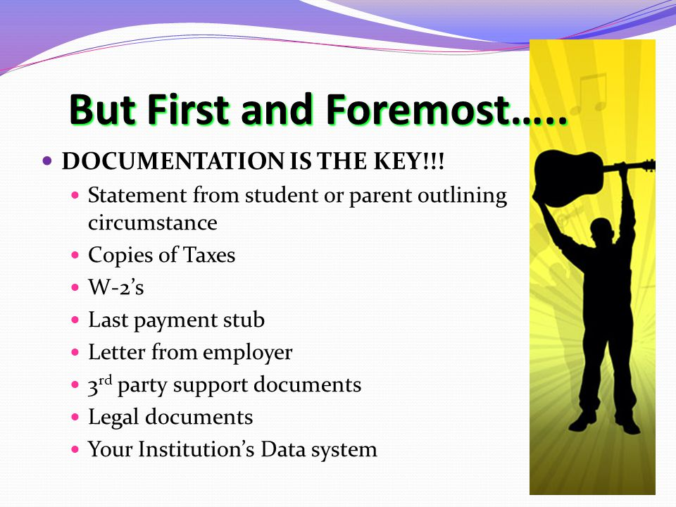 But First and Foremost….. DOCUMENTATION IS THE KEY!!.