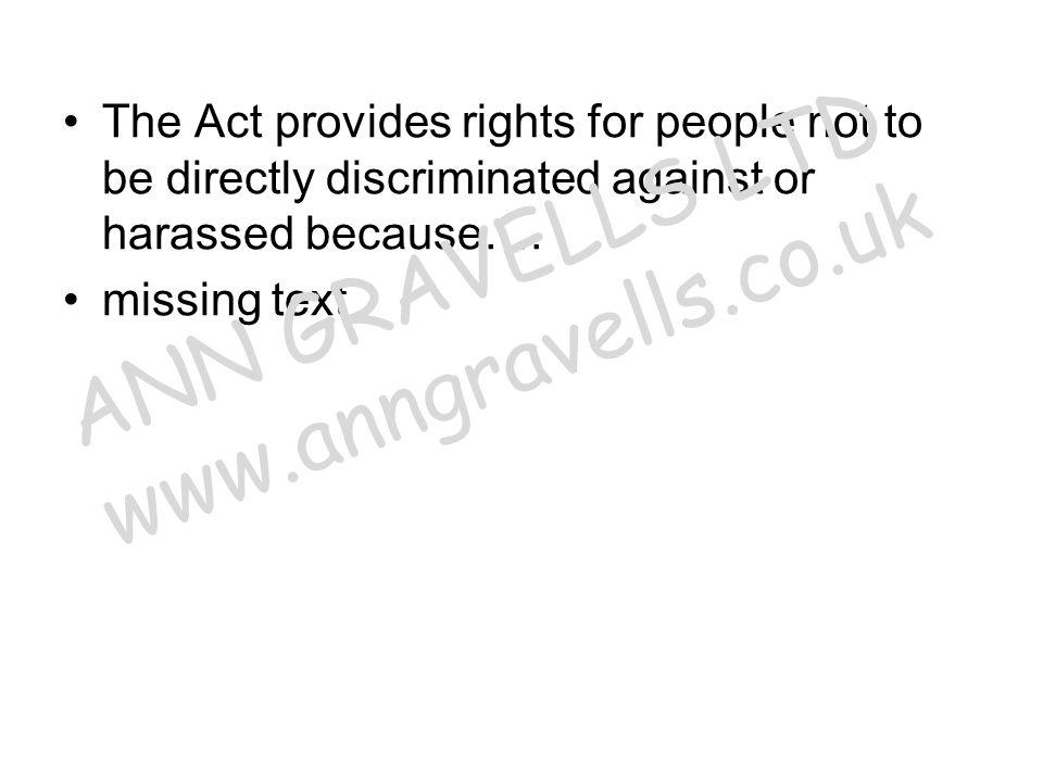 missing bullet points ANN GRAVELLS LTD www.anngravells.co.uk