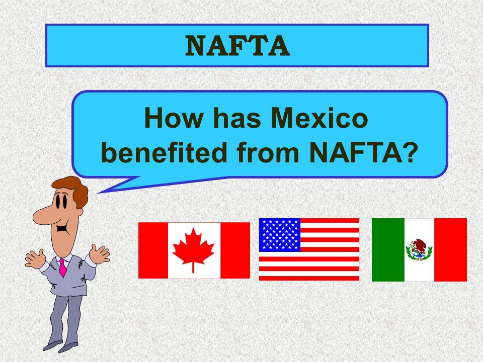 NAFTA How has Mexico benefited from NAFTA?