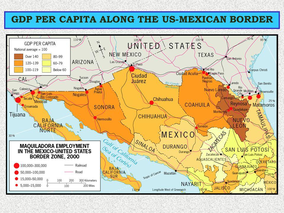 GDP PER CAPITA ALONG THE US-MEXICAN BORDER