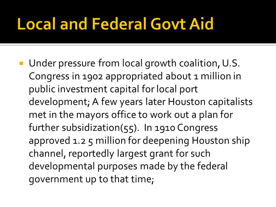  Under pressure from local growth coalition, U.S.